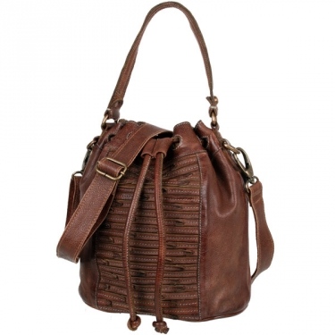 Bull & Hunt Bucket Bag stripe brown